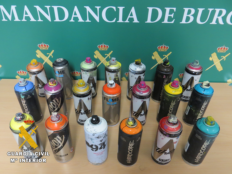 GRAFFITIS sprays intervenidos